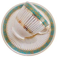 Copeland Neo-Grecian Porcelain Coffee Cup, circa 1860