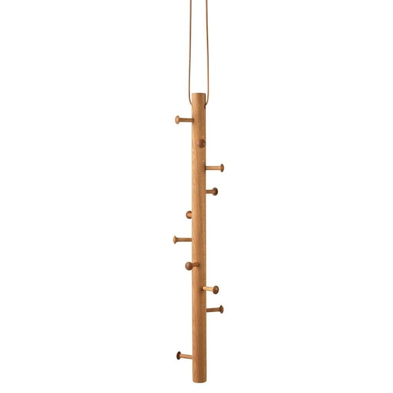 Copenhanger Floating Coat Hanger Oiled Oak For Sale