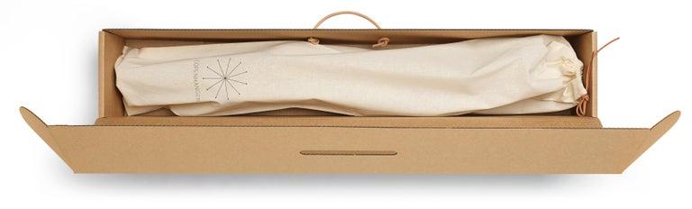 Danish Copenhanger, Floating Coat Hanger, White-Washed Oak For Sale