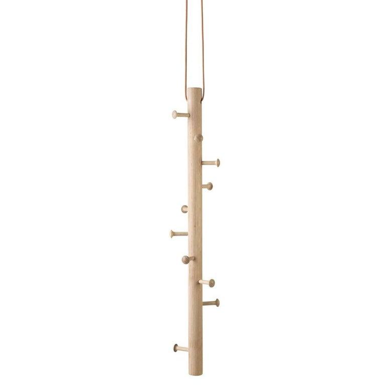 Copenhanger, Floating Coat Hanger, White-Washed Oak For Sale