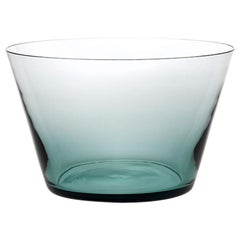 Coppa, Bowl Handcrafted Muranese Glass, Acquamarine Pure MUN by VG