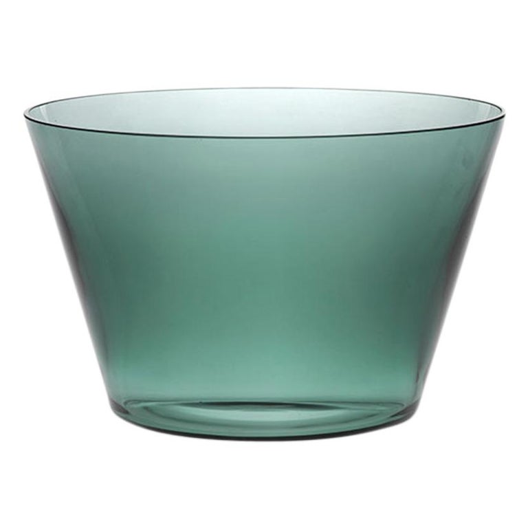 Coppa, Bowl Handcrafted Muranese Glass, Baltic Pure MUN by VG For Sale