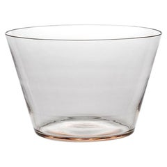 Coppa, Bowl Handcrafted Muranese Glass, Rose Quartz Pure MUN by VG