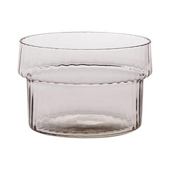 Coppa Multipot17, Bowl Handcrafted Muranese Glass, Rose Quartz Plisse MUN by VG
