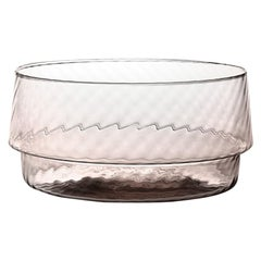 Coppa Multipot25, Bowl Handcrafted Muranese Glass, Cameo Twisted MUN by VG