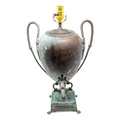 Coppe Water Vessel Converted to Lamp, 19th Century