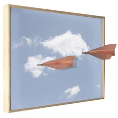 Copper Airplane on a Frame Picture