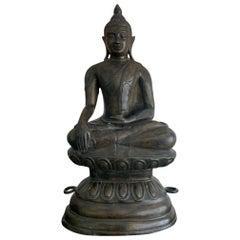 Copper Alloy Medicine Buddha Statue, Southeast Asia