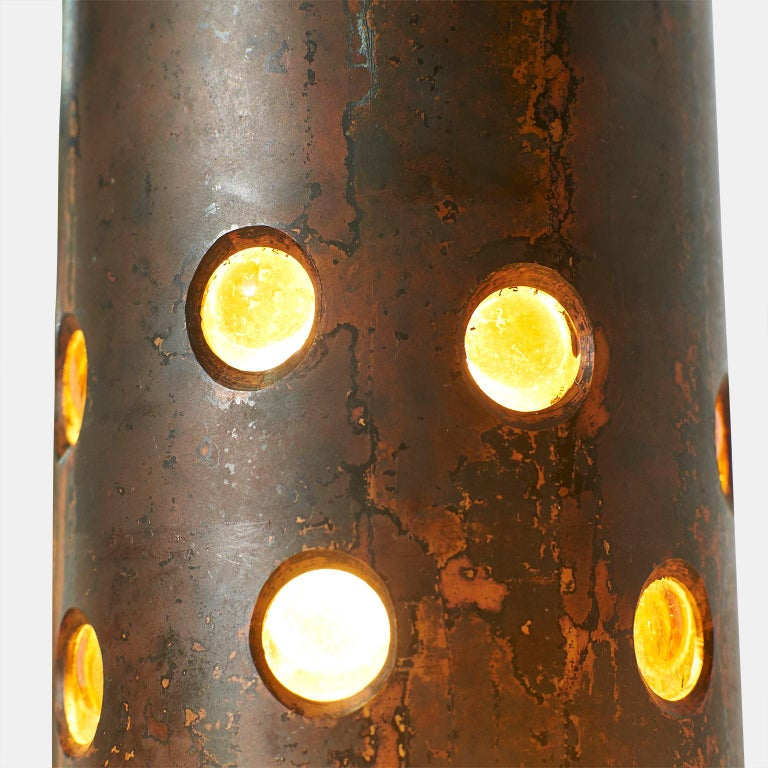 Mid-20th Century Copper and Glass Pendants by Nanny Still For Sale