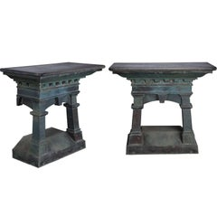 Copper and Slate Console Table, England, circa 1900