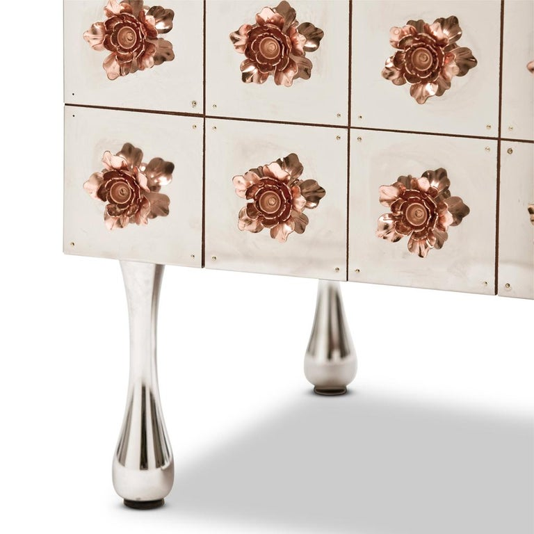 The Rosette Drinks cabinet belongs to the Rosette collection designed by Egg Designs and manufactured in South Africa.