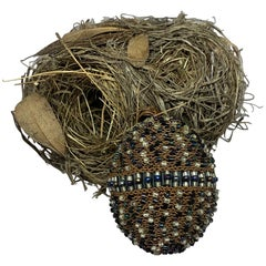 Copper Beaded Egg with Nest