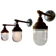 Copper Benjamin Industrial Wall Sconces, circa 1920
