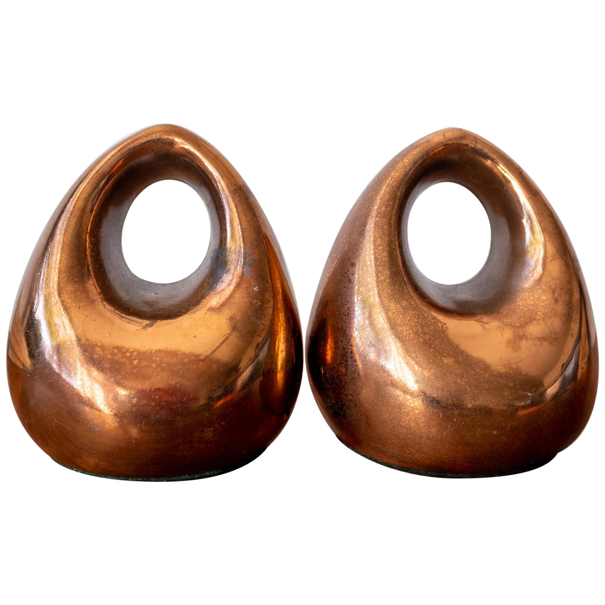Copper Bookends by Ben Seibel for Jenfred-Ware