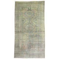 Copper Brown Tribal Geometric Persian Gallery Size Carpet