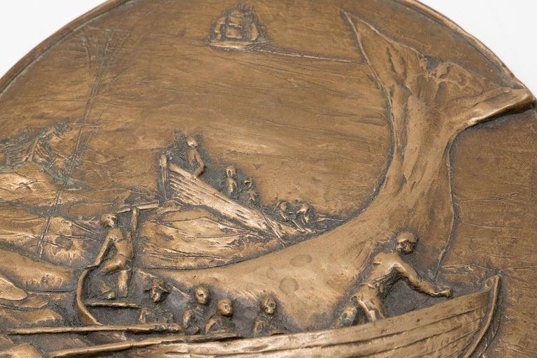 Copper Cast Wall Plaque For Sale 2
