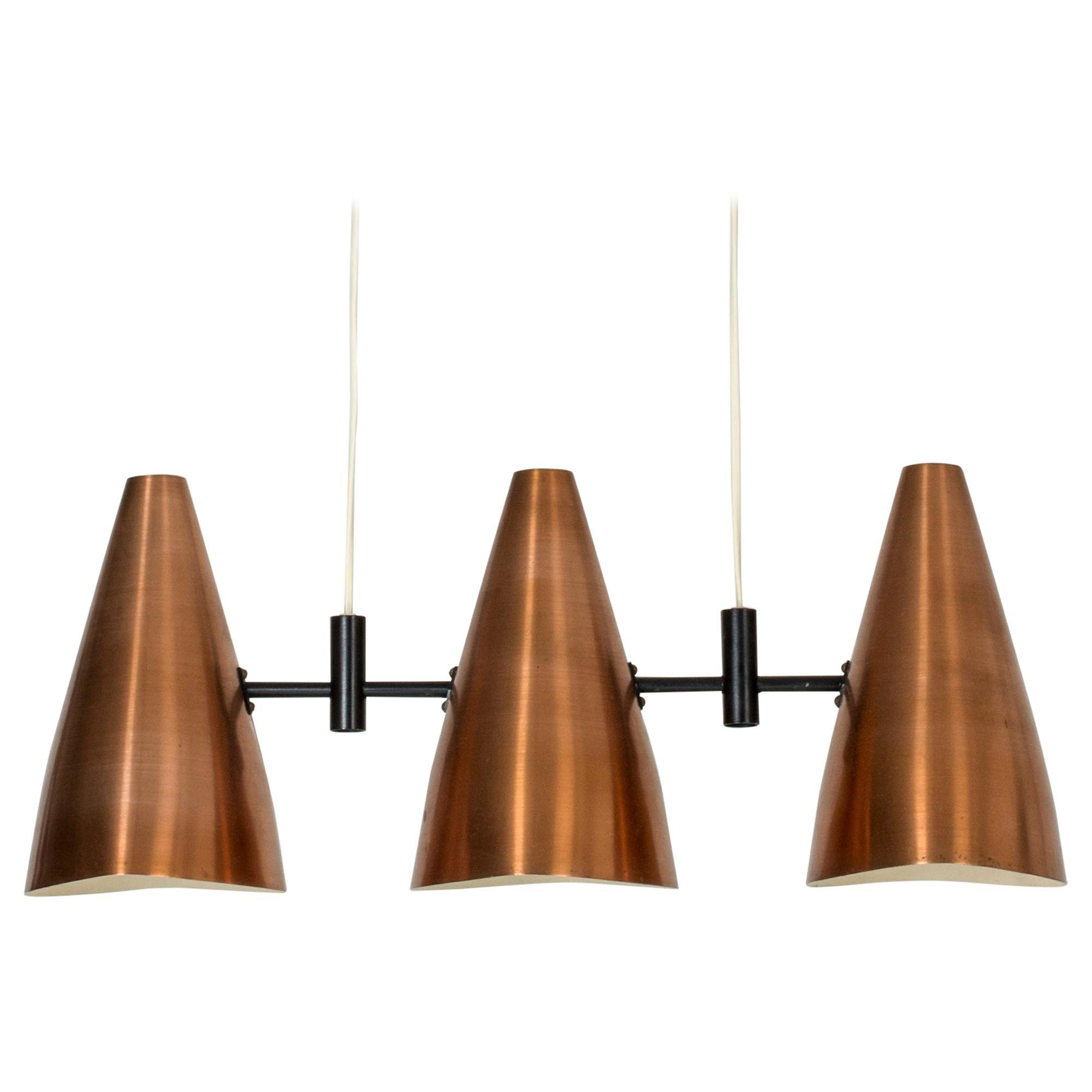 Copper Ceiling Lamp by Eje Ahlgren