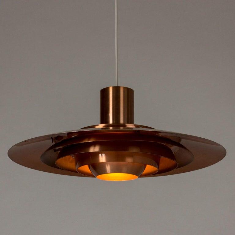 Scandinavian Modern Copper Ceiling Lamp by Jørgen Kastholm and Preben Fabricius For Sale