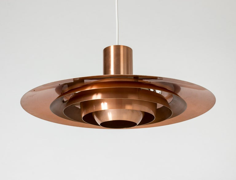 1960s Copper Ceiling Lamp by Jørgen Kastholm and Preben Fabricius For Sale