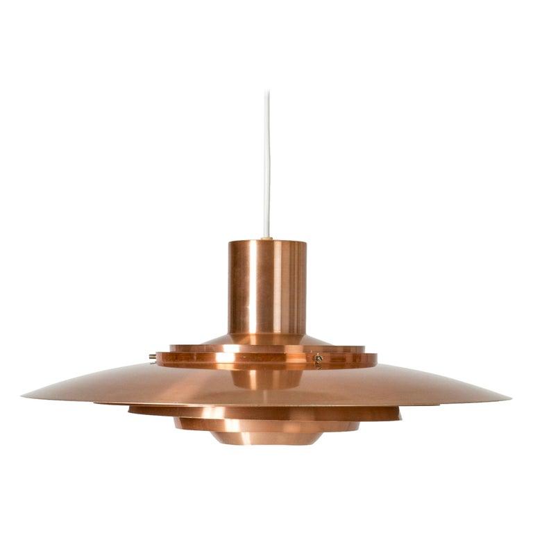 Copper Ceiling Lamp by Jørgen Kastholm and Preben Fabricius For Sale