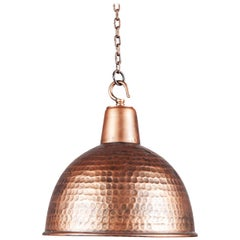 Copper Colored Textured Ceiling Light, 20th Century