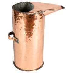 Copper Distiller's Jug from the Normandy Region of France