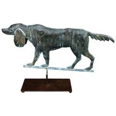Copper Dog Late 19th Century Weathervane