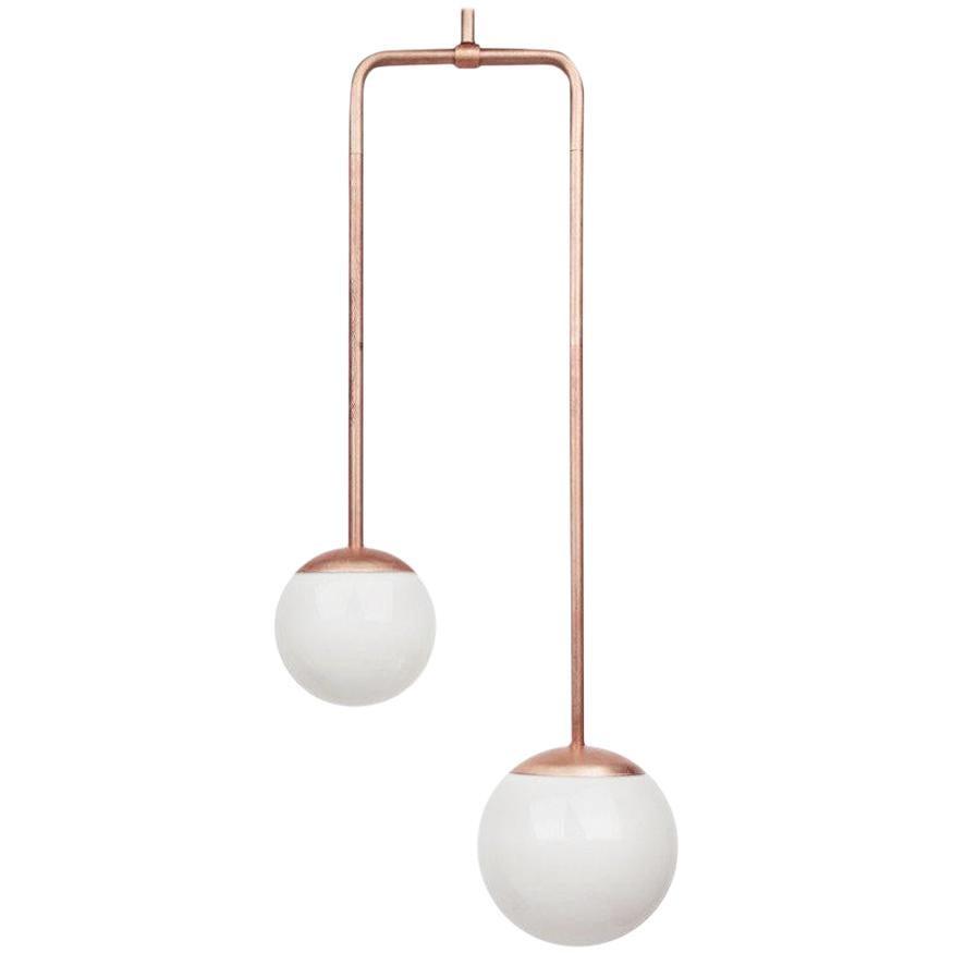 Copper Double Circuit Globe Pendant Light