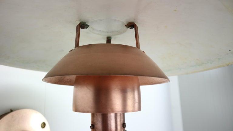 Copper Exterior Wall Light 'PH 4.5/3' by Poul Henningsen for Louis Poulsen, 1960 For Sale 6