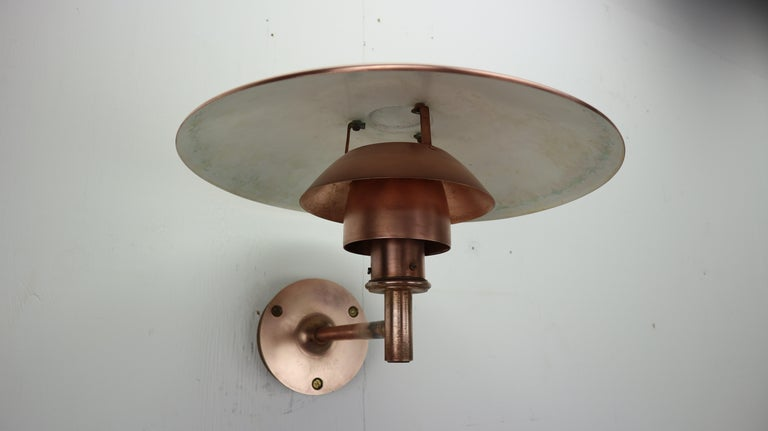 Mid-20th Century Copper Exterior Wall Light 'PH 4.5/3' by Poul Henningsen for Louis Poulsen, 1960 For Sale