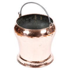 Copper French Fire Bucket or Planter