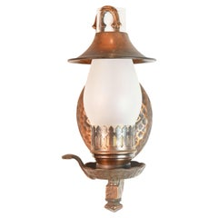 Copper Gilt Hammered Lamp Sconces, 4 Available