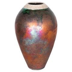 Copper Glaze Hand Thrown Pot Signed by Pennington