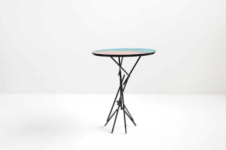 Copper Hand-Sculpted Side Table by Samuel Costantini 10