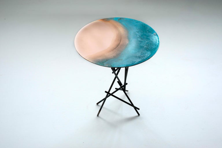 Copper Hand-Sculpted Side Table by Samuel Costantini 11