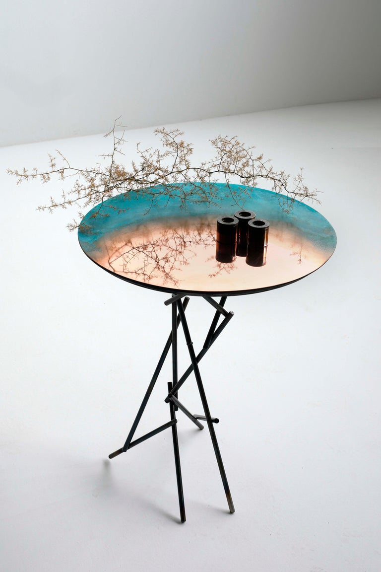 Copper Hand-Sculpted Side Table by Samuel Costantini 2