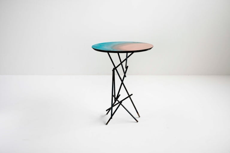 Copper Hand-Sculpted Side Table by Samuel Costantini 3