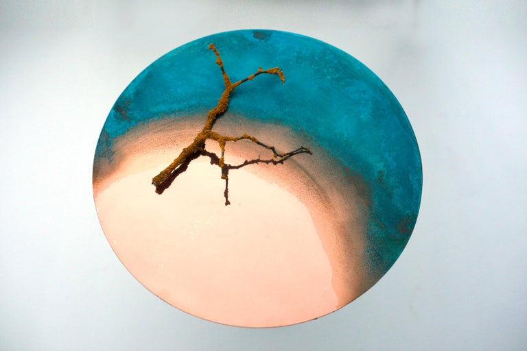 Copper Hand-Sculpted Side Table by Samuel Costantini 6