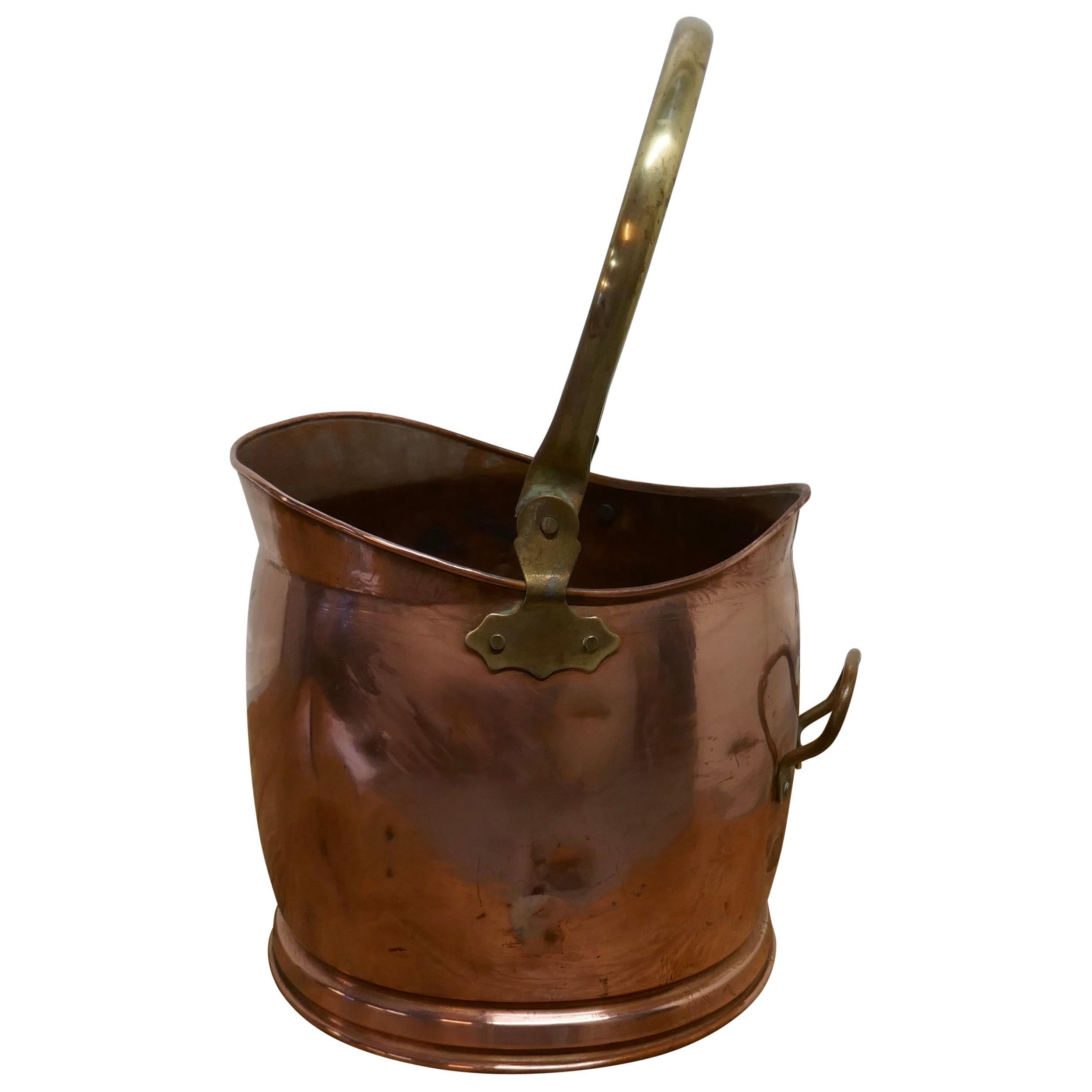 Copper Helmet Coal Scuttle