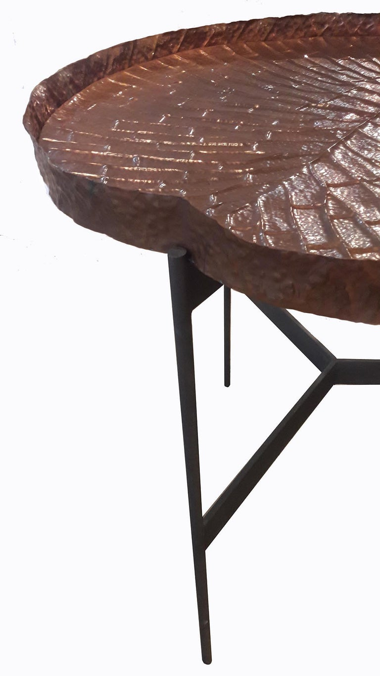 Indonesian  Copper High Tray Table For Sale