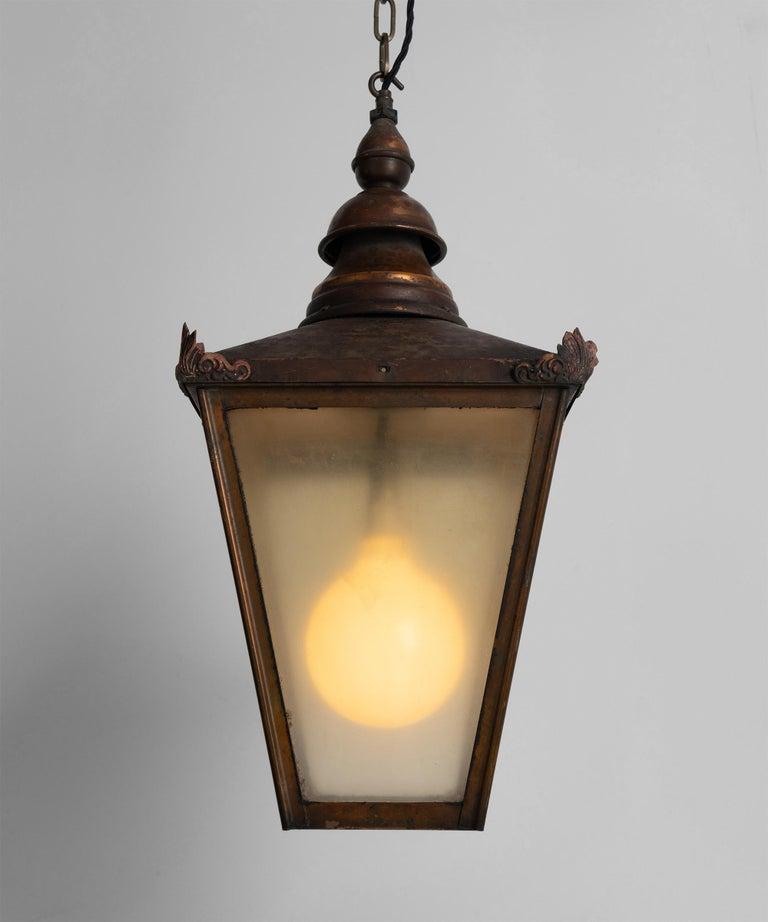 English Copper Lanterns, England, circa 1890 For Sale