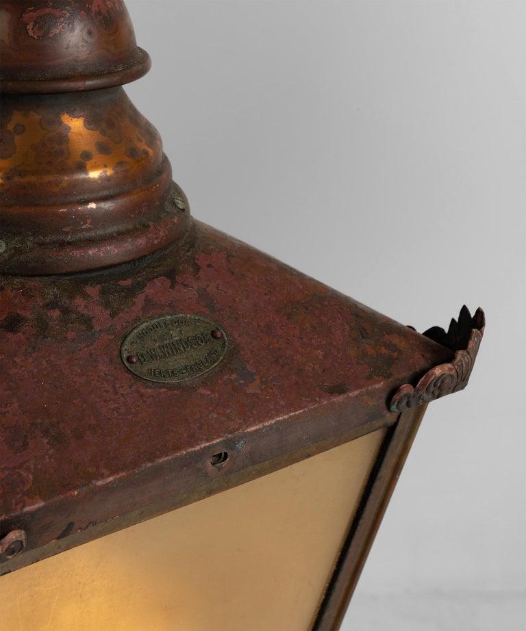 Copper Lanterns, England, circa 1890 In Good Condition For Sale In Culver City, CA