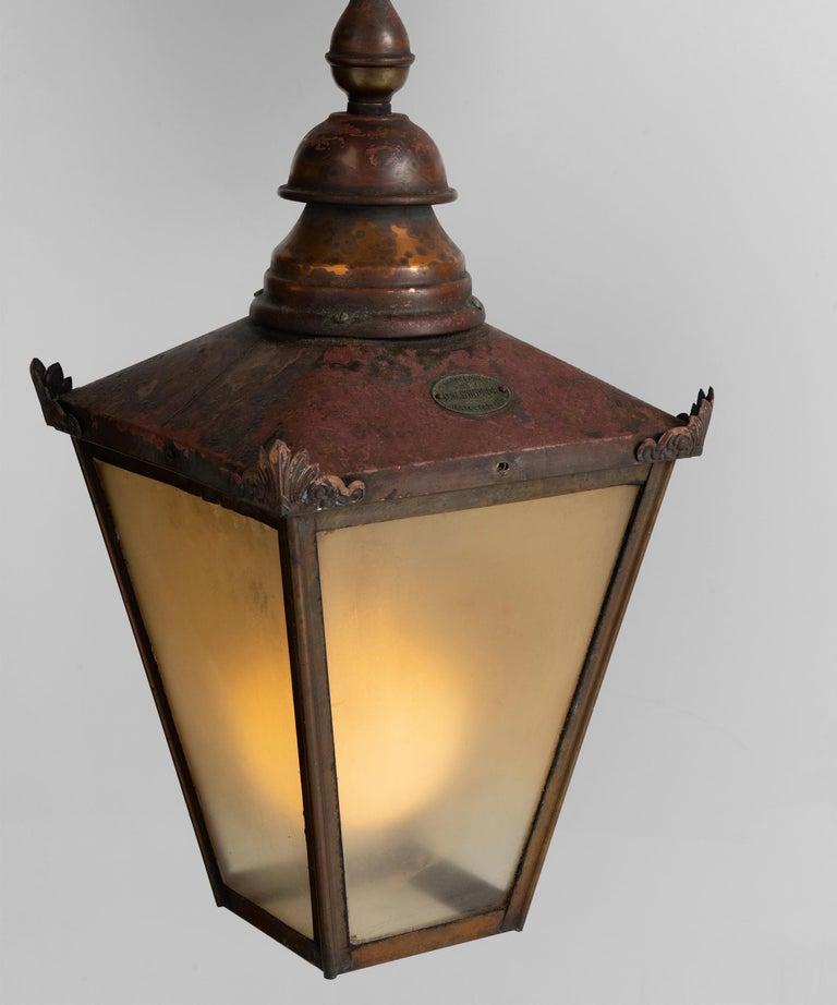 19th Century Copper Lanterns, England, circa 1890 For Sale