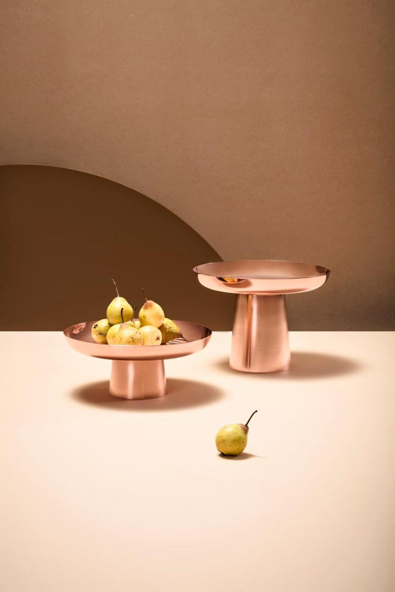 Contemporary Copper Large Fruit Tray by Brazilian Designer Brunno Jahara For Sale