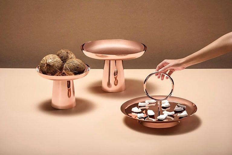 Copper Large Fruit Tray by Brazilian Designer Brunno Jahara For Sale 1