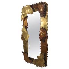 Copper Midcentury Mirror