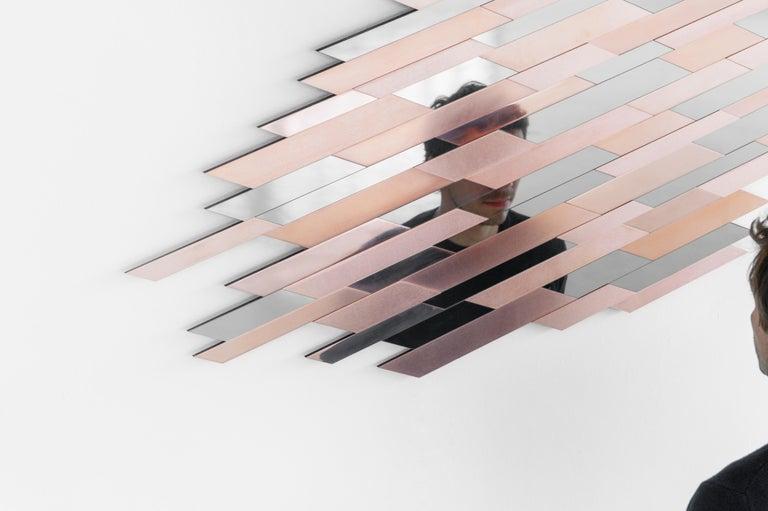 Contemporary Copper Mirror