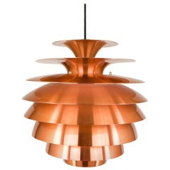 Copper Multi Shaded Barcelona Pendant by Lyfa, 1970s