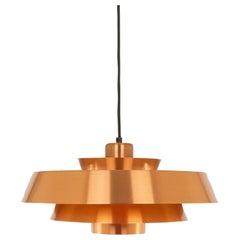 Copper Nova Pendant by Jo Hammerborg for Fog & Mørup, 1960s
