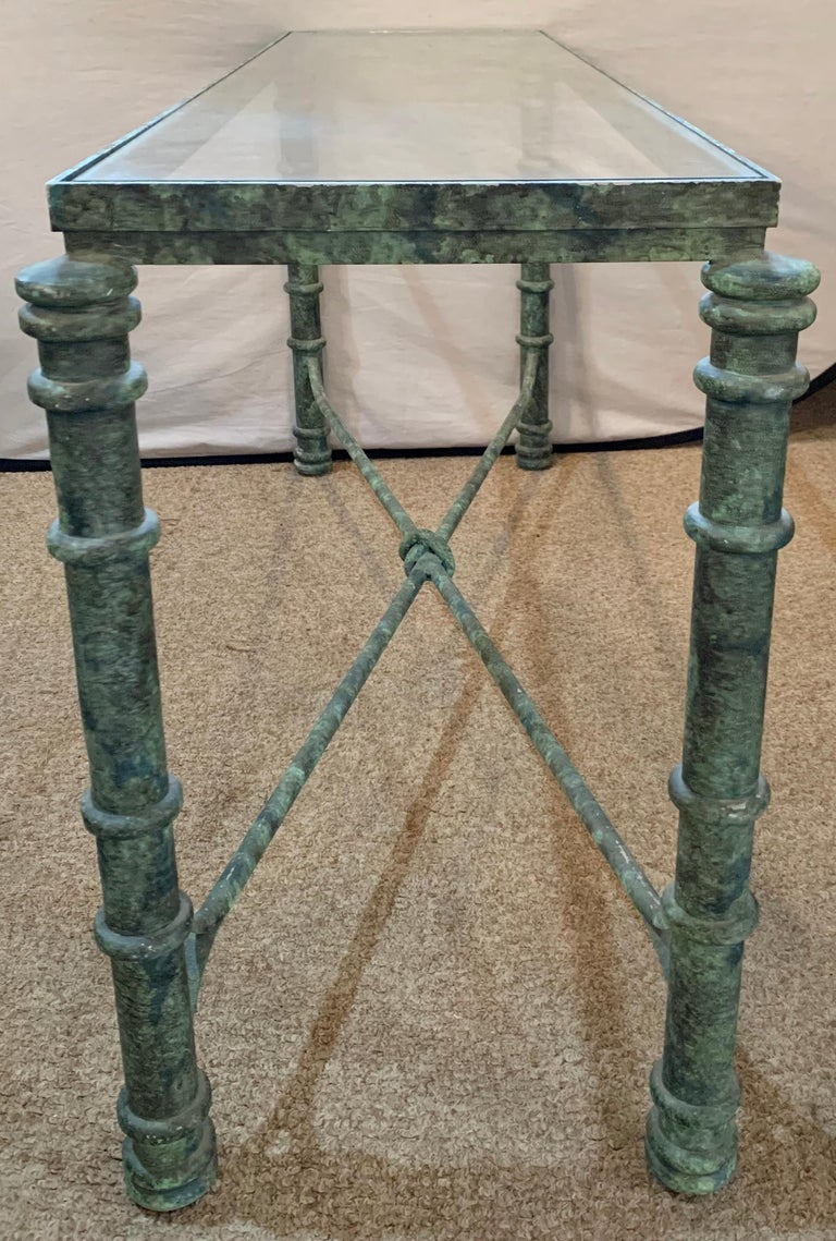 Copper Paint Decorated Console Table For Sale 8